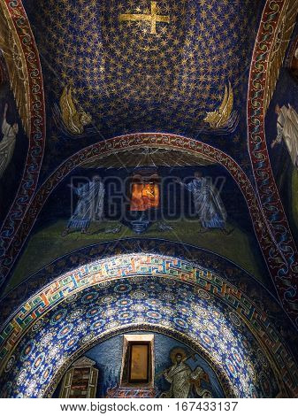 Interior Of Galla Placidia Mausoleum In Ravenna