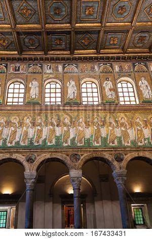 Decor Of Catherdal Sant Apollinare Nuovo
