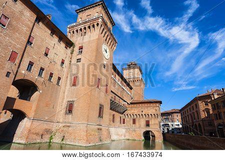 Castello Estense In Ferrara City In Sunny Day