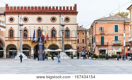Piazza Del Popolo And Town Hall In Ravenna