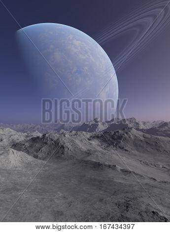 Space Art: Alien Planet - 3D Rendering