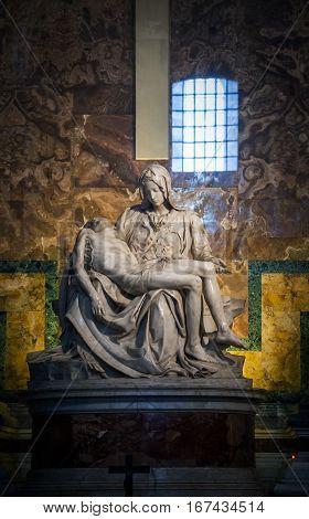 St Peter Basilica In Vatican - Statue The Pieta