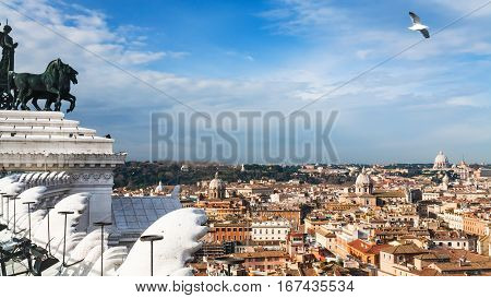 View Of Rome City From Altare Della Patria