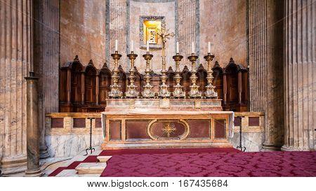Celebration Altar In Pantheon