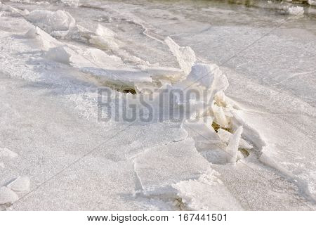 Broken Ice On The River