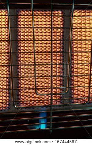 beautiful burning gas inside the furnace a large background