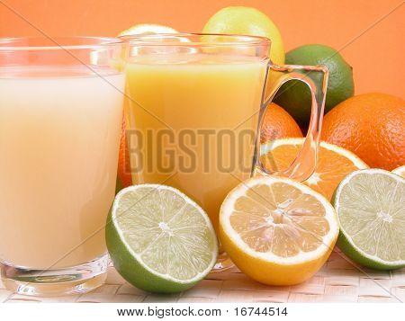 multivitamins natural juice - oranges lemons and limes
