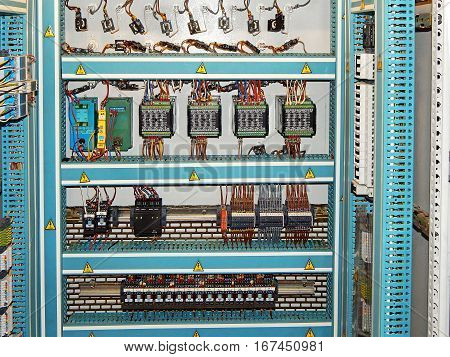 Control cabinet with automatic systems. Control  panel.