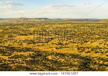 Landscape of the American southwest, wide view