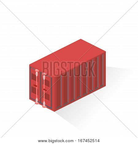 Container merchant ships. Liner Equipment. Isometric vector illustration