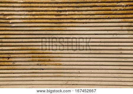 Straight Lines On A Shop Front Shutter As A Background