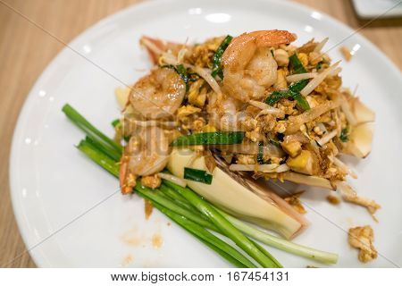 Pad Thai. Stir-fried thai noodle. Pad Thai is the famous Thai food cuisine for foriegners.