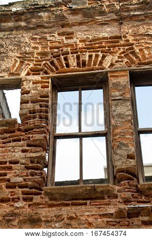 Old window Architecture from ruins in Istanbul