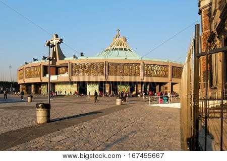MEXICO CITY-DECEMBER 27,2016 : The Basilica of Our Lady of Guadalupe in Mexico City, the most visited catholic shrine in the world