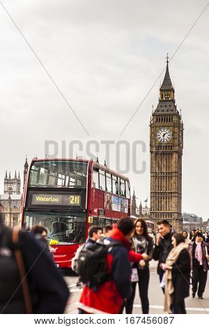 Big Ben At Westminister, London