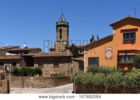 Village of Jafre Baix Emporda Girona province Catalonia Spain
