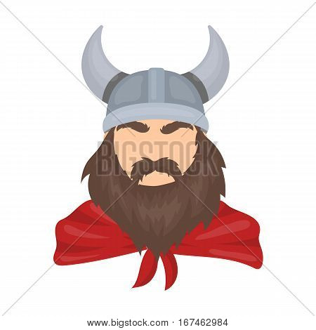 Viking icon in cartoon design isolated on white background. Vikings symbol stock vector illustration.