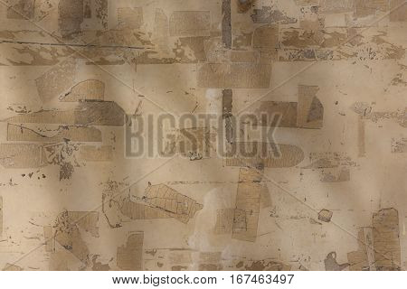 remains of adhesive tape on a wall