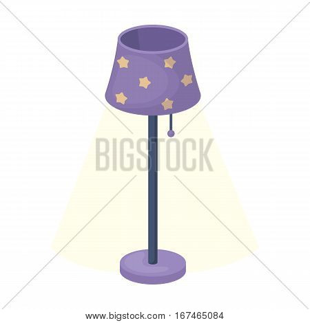 Floor lamp icon in cartoon design isolated on white background. Sleep and rest symbol stock vector illustration.