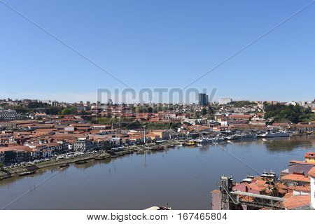 View of Vila Nova de Gaia Portugal