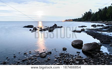 Early Morning On The Shore Of Lake Ladoga