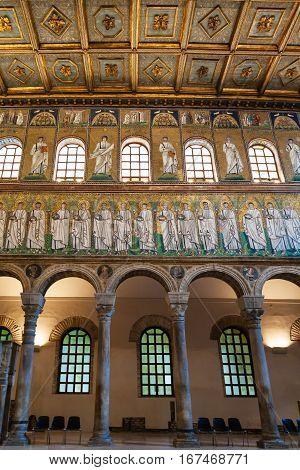 Interior Of Catherdal Sant Apollinare Nuovo