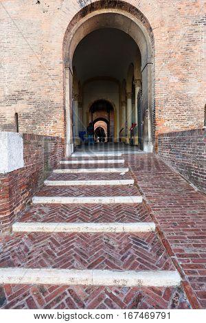 Gate In Castello Estense In Ferrara City