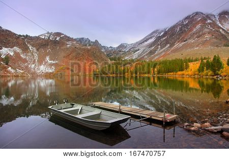 Virginia lakes in Sierra Nevada mountains