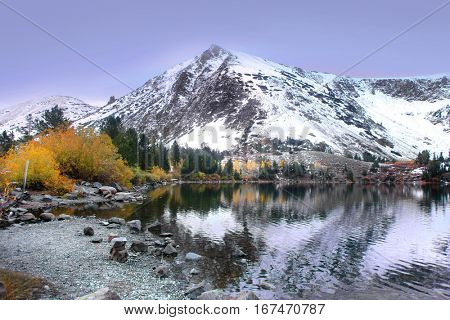 Virginia lakes landscape in Sierra Nevada mountains