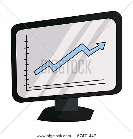 Growing graphic icon in cartoon design isolated on white background. Conference and negetiations symbol stock vector illustration.