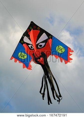 Traditional Kite Above Tiananmen Square In Beijing