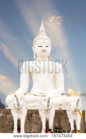 big budha in templetak province north thailand.