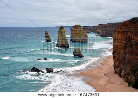 The famous rock formations called