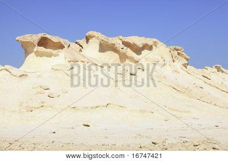 Qatar Desert Erosion Geology