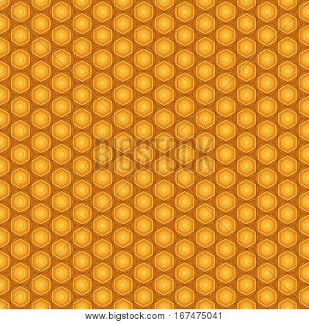 Orange seamless pentagon background pattern for graphic designers