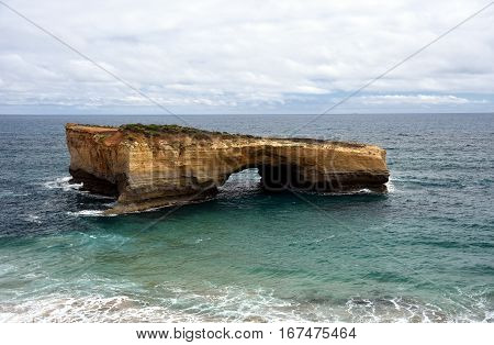 London Arch (formerly London Bridge) is an offshore natural arch formation in the Port Campbell National Park Australia. The arch is a significant tourist attraction along the Great Ocean Road.