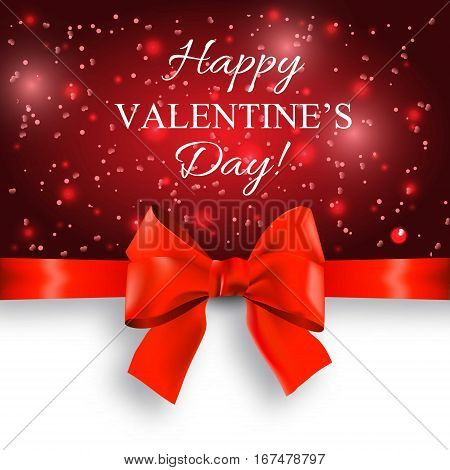 Valentine's day abstract background with red bow