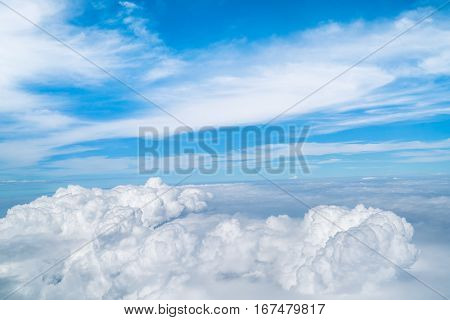 Sky And Clouds Viewed From Airplane