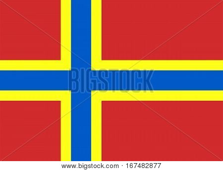 Colored Flag Of The Orkney Islands