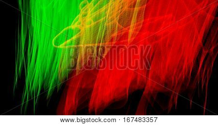 Light green red dancing , Abstract background