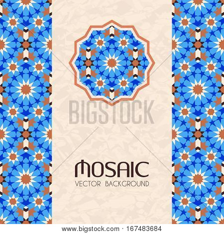Mosaic in traditional moroccan style abstract vector background