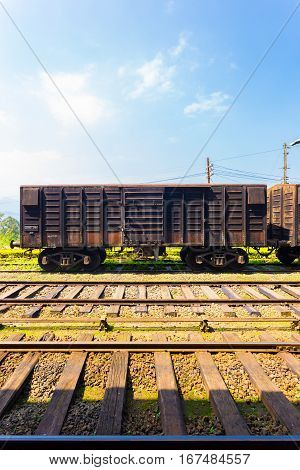Train Track Cargo Carriage Sri Lanka Railways V