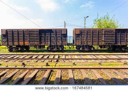 Train Track Cargo Carriage Sri Lanka Railways H