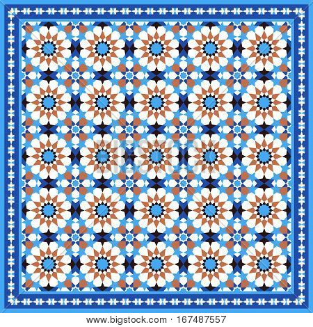 Traditional moroccan mosaic, abstract geometric tile background