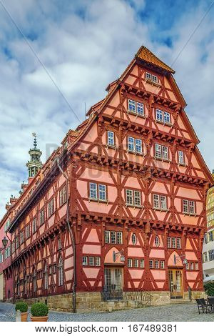 Old Town Hall is the most beautiful building in Esslingen am Neckar Germany. Back view