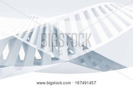 Abstract Blue And White Spiral 3 D