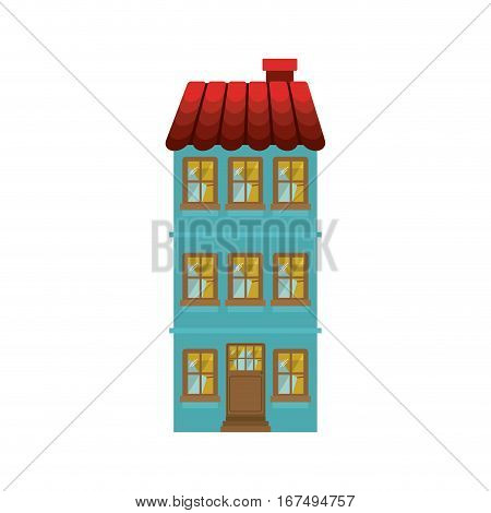 building residence with several floors vector illustration
