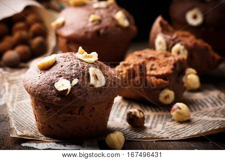 nutella cakes.rustic style . . selective focus.