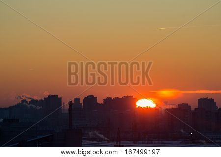 Dawn In The Industrial District