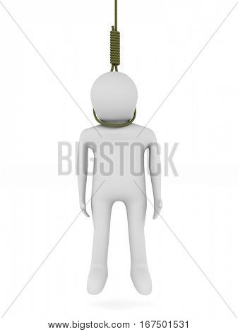 gallows on white background. Isolated 3D image